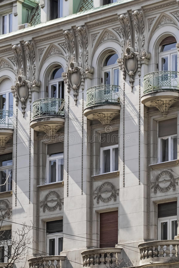 Fachadas de Belgrado - restaurante ruso anterior del zar que construye el De foto de archivo