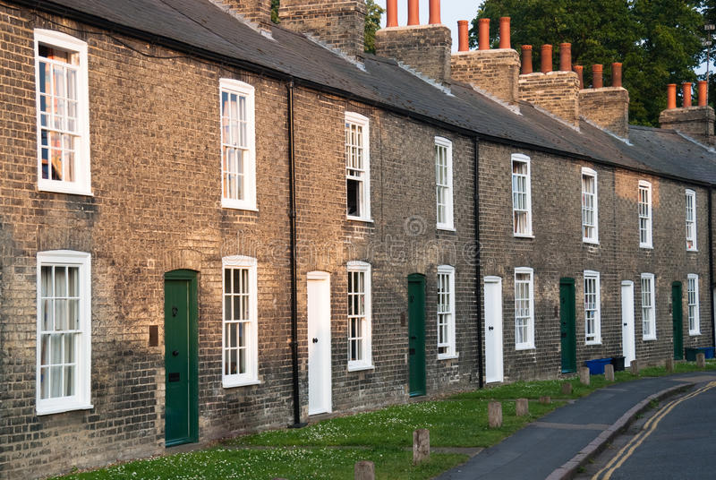 Fachadas de casas terraced foto de stock royalty free