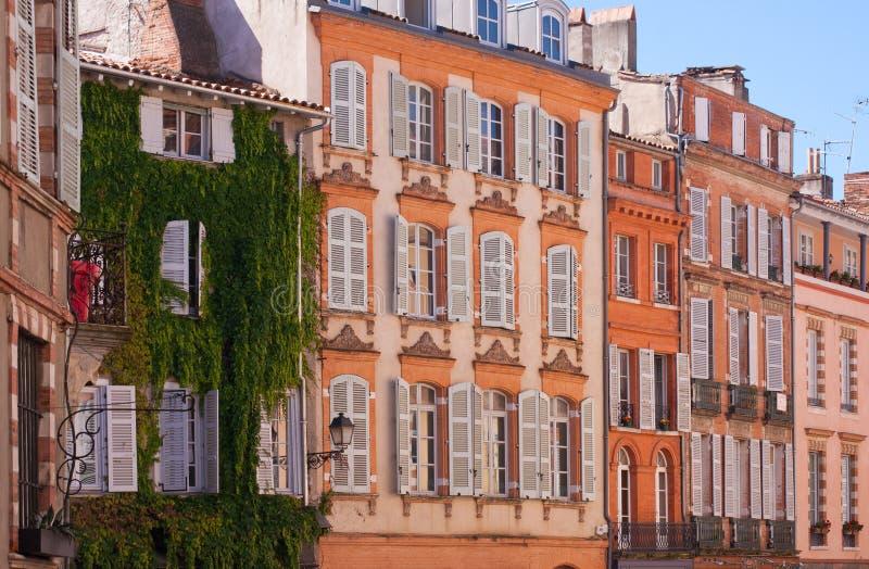 Fachadas de Toulouse fotos de archivo libres de regalías