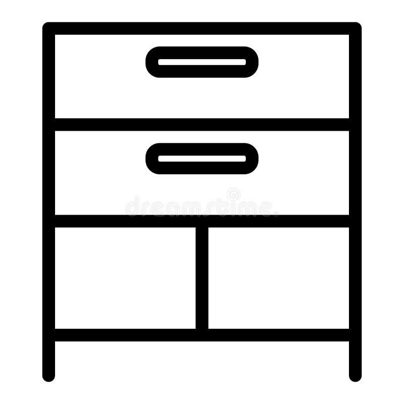 Fachlinie Ikone Kabinettvektorillustration lokalisiert auf Weiß Speicherentwurfsartentwurf, bestimmt für Netz und App vektor abbildung