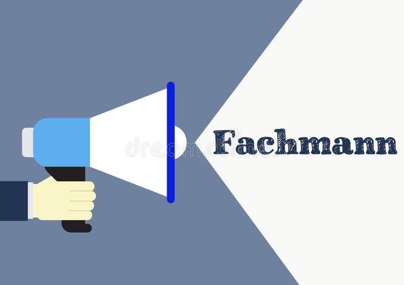 Fachmann - εμπειρογνώμονας στη γερμανική έννοια διανυσματική απεικόνιση