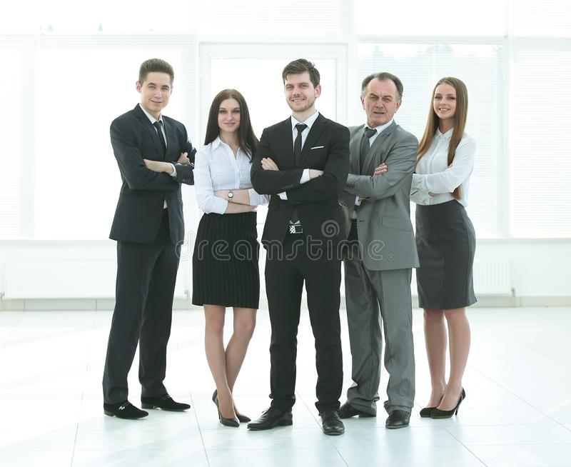 Fachowa biznes drużyna Fotografia w pełnym przyroscie Fotografia z miejscem dla teksta fotografia stock