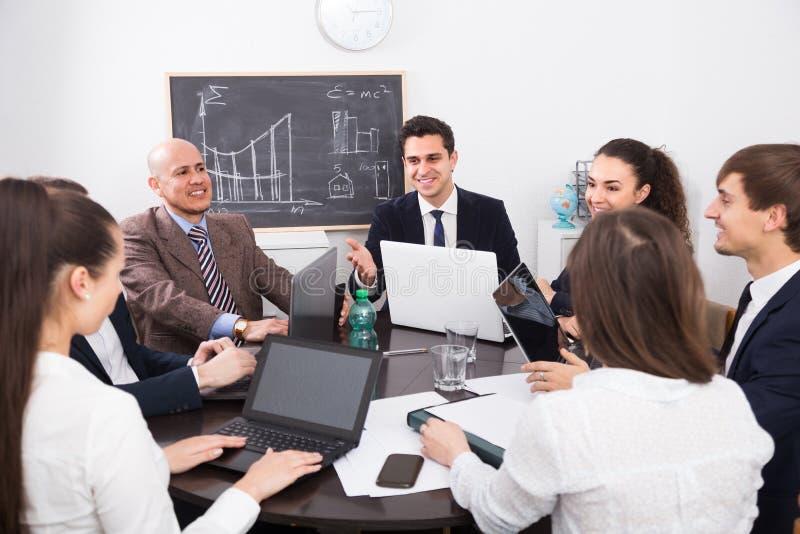Fachowa biznes drużyna przy spotkaniem obraz stock