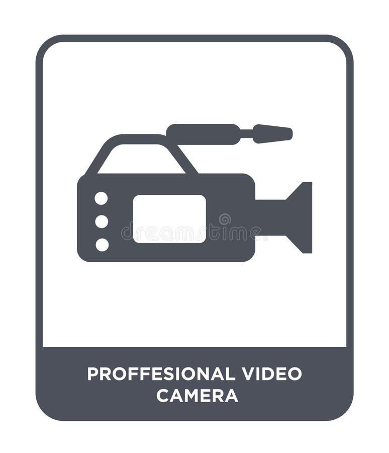 fachowa kamera wideo ikona w modnym projekta stylu fachowa kamera wideo ikona odizolowywająca na białym tle profesjonalista ilustracji