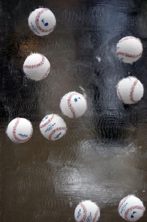 Fachowego baseballa liga baseballe w Lodowej rzeźbie obraz stock