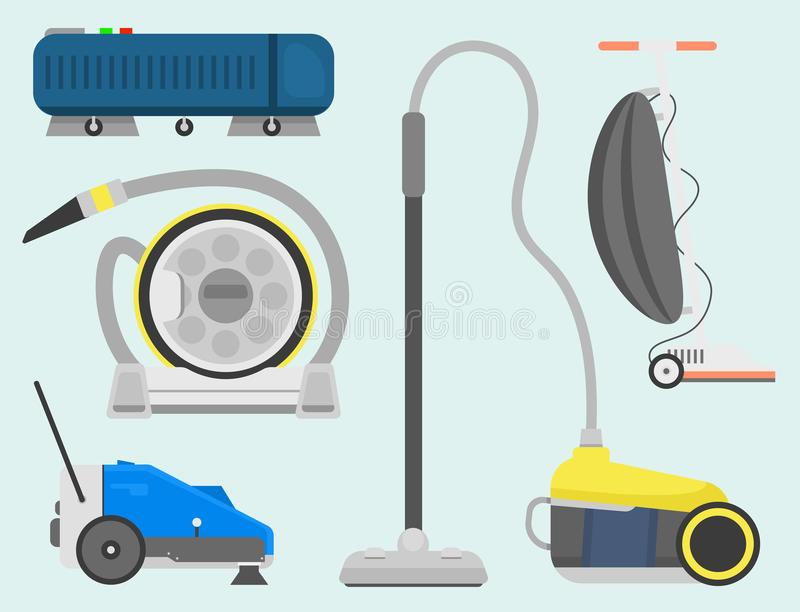 Fachowego cleaning wyposażenia odosobniony wektor ilustracji