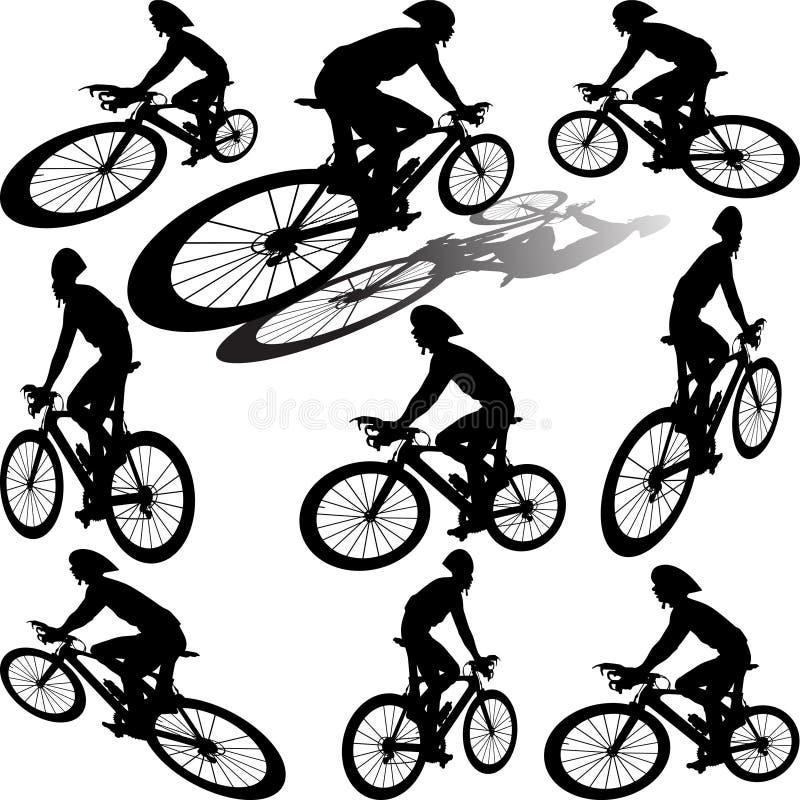 Fachowi cykliści na rasie fotografia royalty free