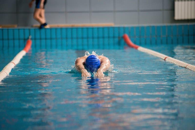 Fachowi mężczyzna pływaczki pływania zdjęcia royalty free