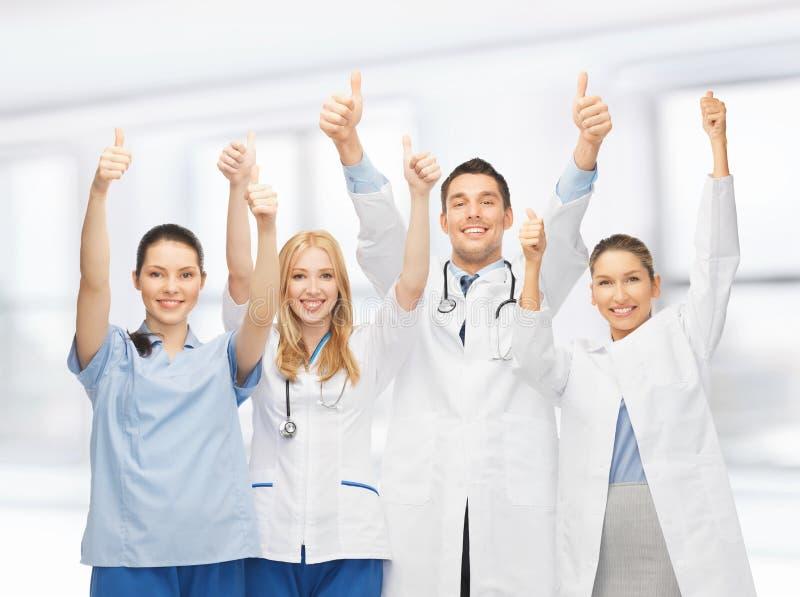 Fachowi potomstwa drużyna lub grupa lekarki zdjęcia stock