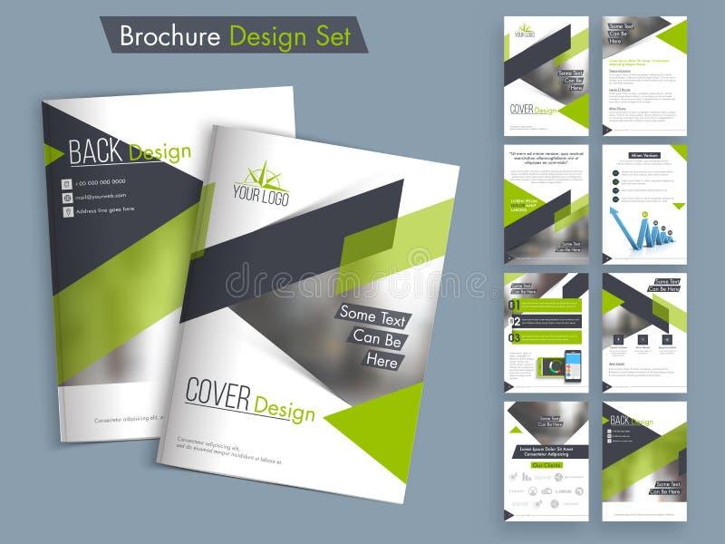Fachowy biznesowy broszurki, szablonu lub ulotki set, royalty ilustracja