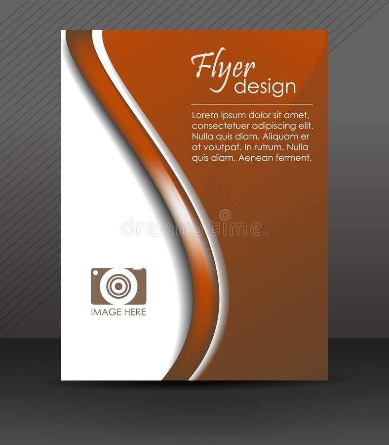 Fachowy biznesowy ulotka szablon lub korporacyjny sztandar, broszurka, okładkowy projekt ilustracja wektor
