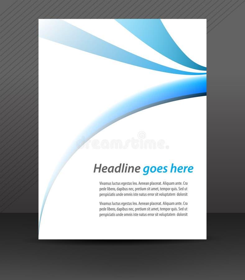 Fachowy biznesowy ulotka szablon lub korporacyjny sztandar, okładkowy projekt ilustracji