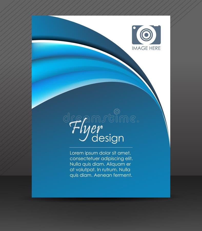 Fachowy biznesowy ulotka szablon lub korporacyjny sztandar, okładkowy projekt royalty ilustracja