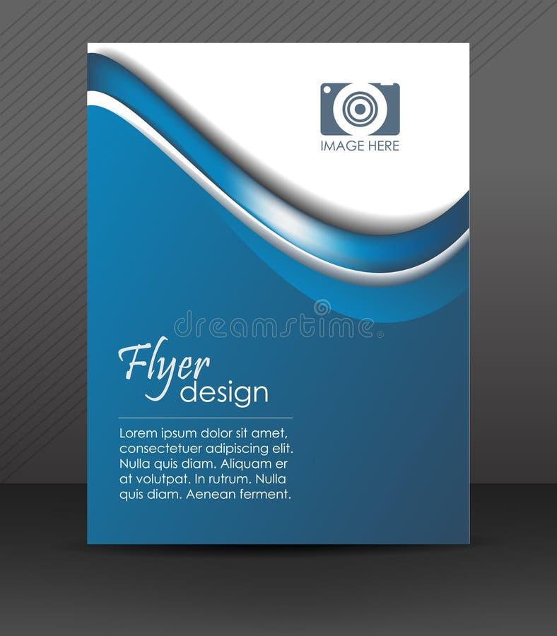 Fachowy biznesowy ulotka szablon lub korporacyjny sztandar, okładkowy projekt ilustracja wektor