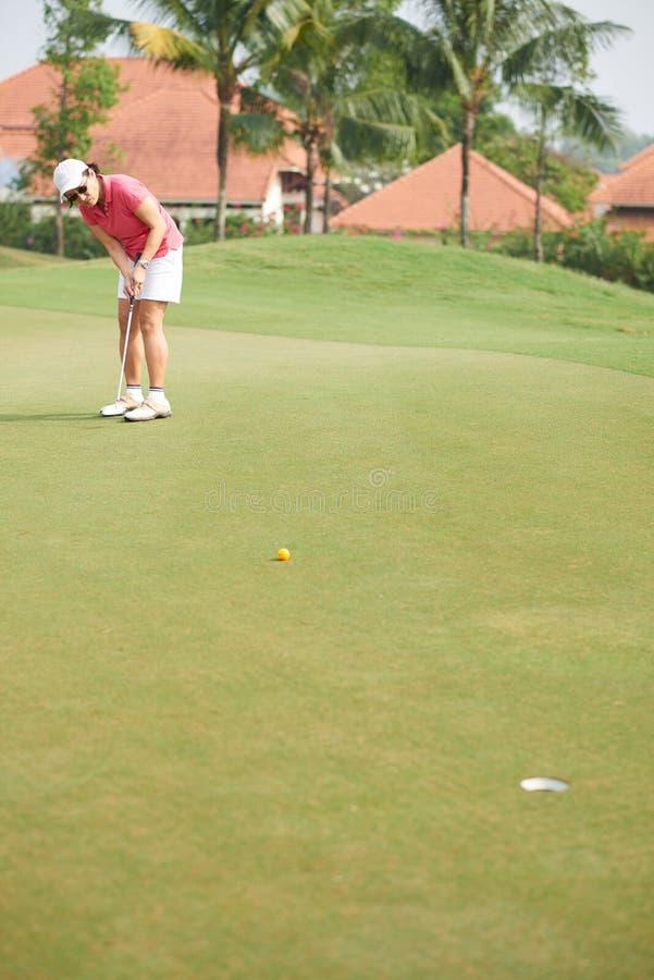Fachowy golfowy gracz zdjęcie royalty free