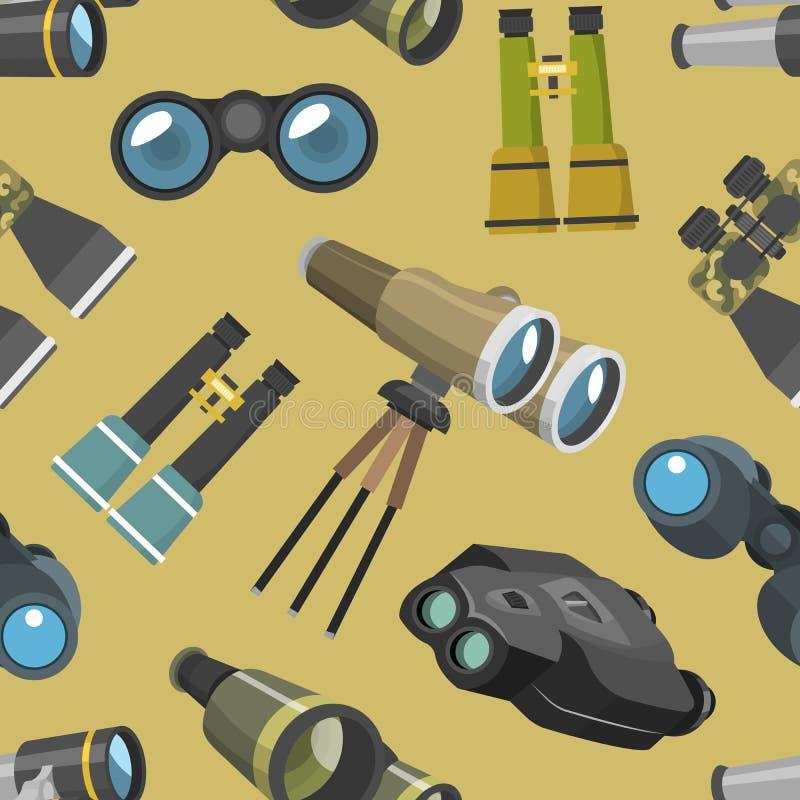 Fachowy kamera obiektywu lornetek szkło widzii spyglass optyka bezszwową deseniową kamerę skupiać się okulistycznego wyposażenie ilustracji