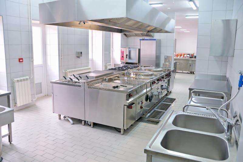 Fachowy kuchenny wnętrze zdjęcie royalty free