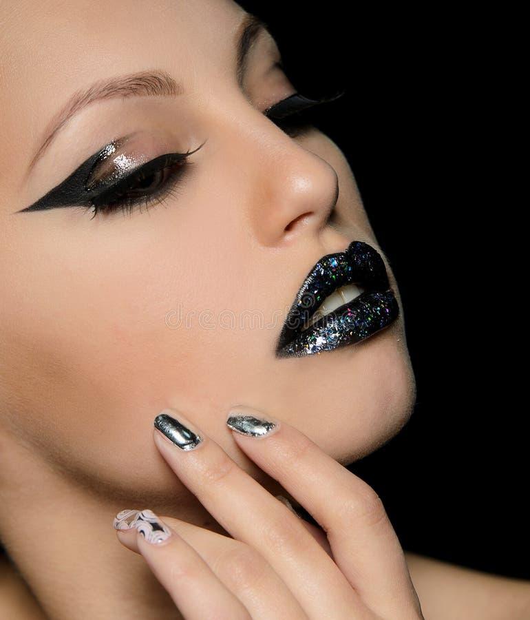 Fachowy makeup zbliżenie fotografia royalty free