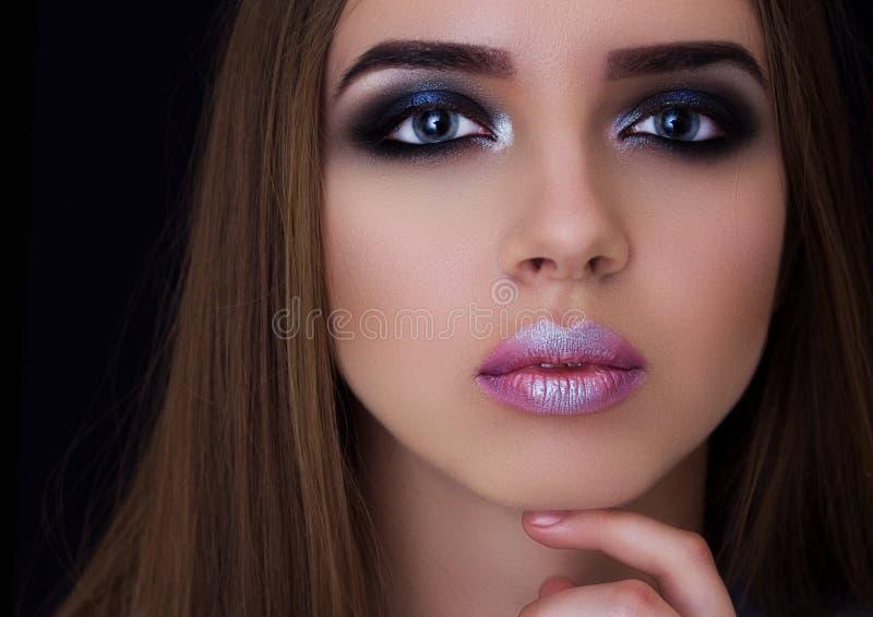 Fachowy makijaż na dużym oko modelu zdjęcie royalty free