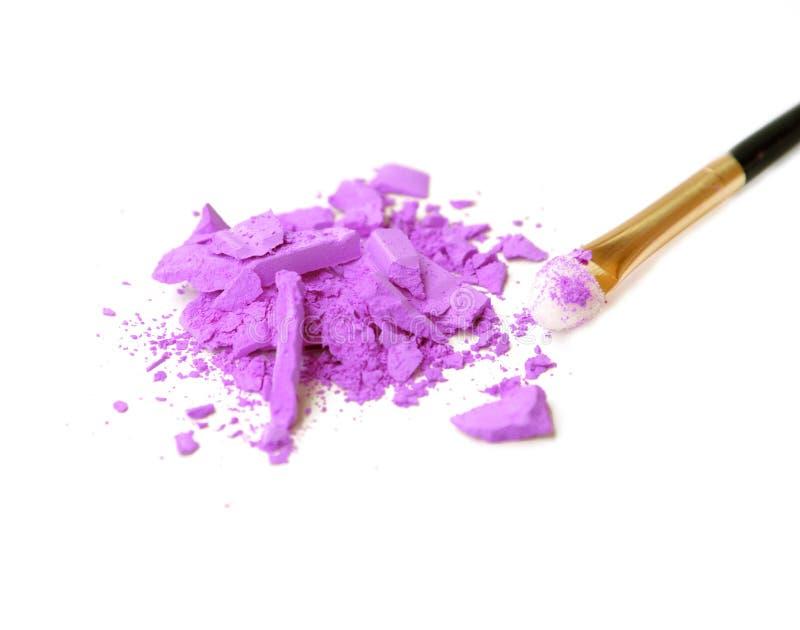 Fachowy makijażu muśnięcie na purpury zdruzgotanym eyeshadow fotografia royalty free
