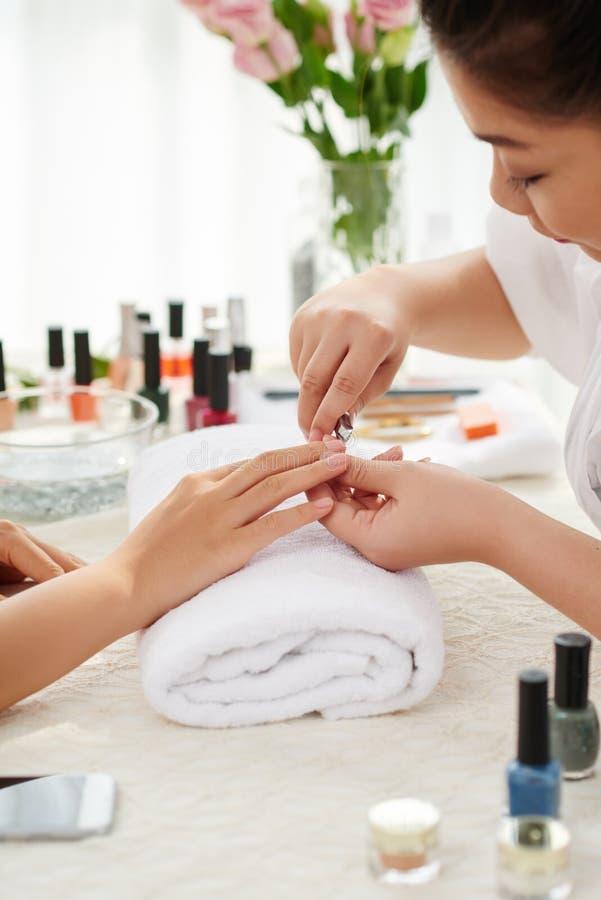 Fachowy manicure obrazy stock