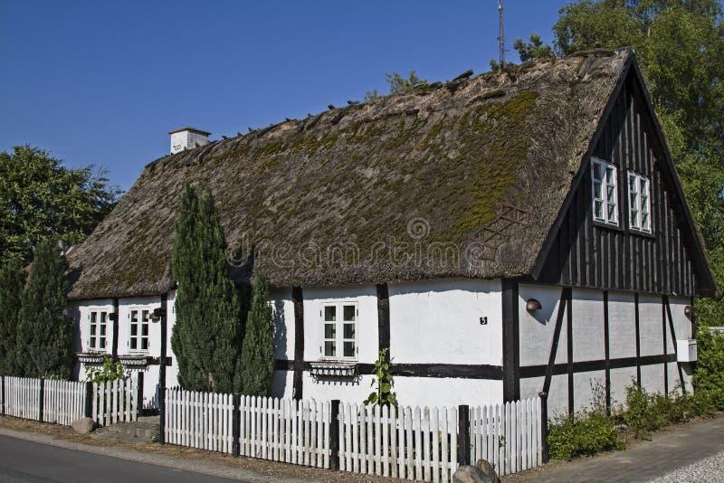 Fachwerkhaus在Danemark 免版税库存图片