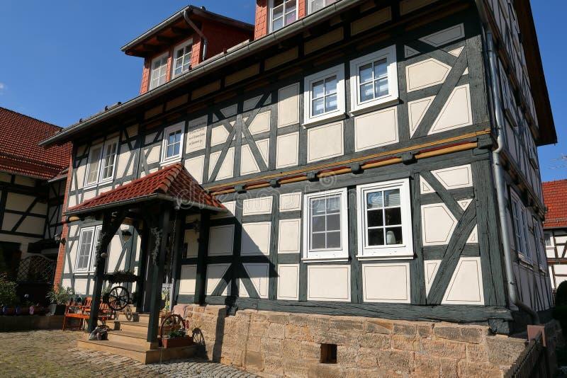 Fachwerkhaus in Nord-Hessen Deutschland lizenzfreie stockfotografie