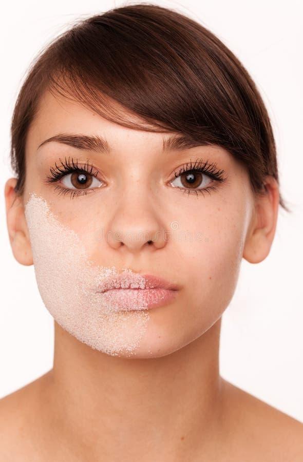 Facial asciutto di Skincare fotografia stock
