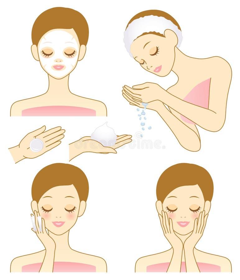Facial beauty vector illustration