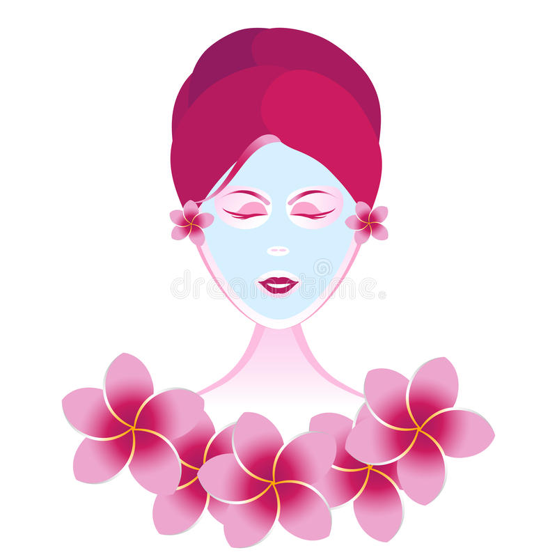 Download Facial Beauty Girl stock vector. Image of skin, flower - 21576512