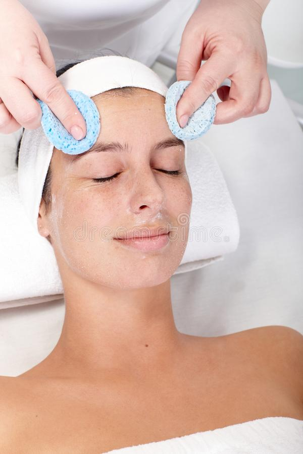 Facial beauty treatment stock photography