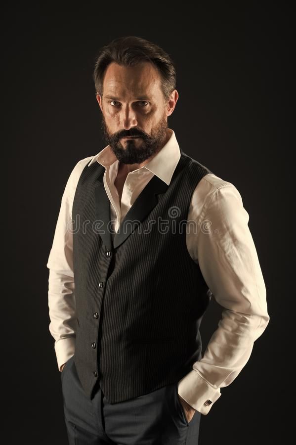Facial care. Bearded man. brutal caucasian hipster with moustache. Male fashion. stylish businessman in suit. business. Fashion. Mature hipster with beard stock images