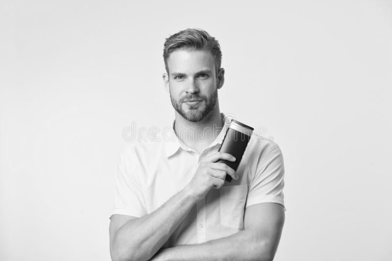 Facial care. Male fashion. Mature hipster with beard. Bearded man. caucasian guy with moustache. Man maintaining fashion. Blog. man on yellow background stock photos