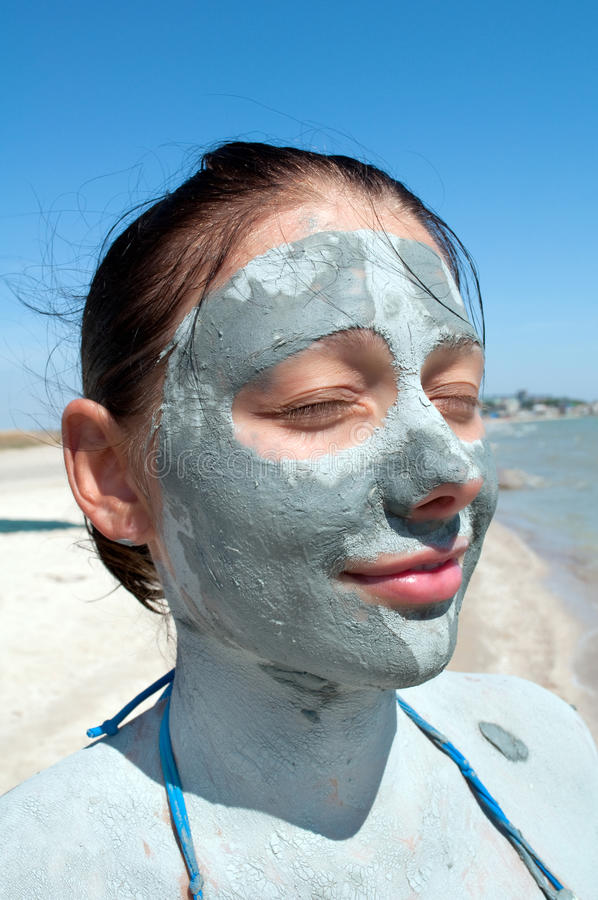 Download Facial clay mask stock image. Image of healthy, clean - 13294633