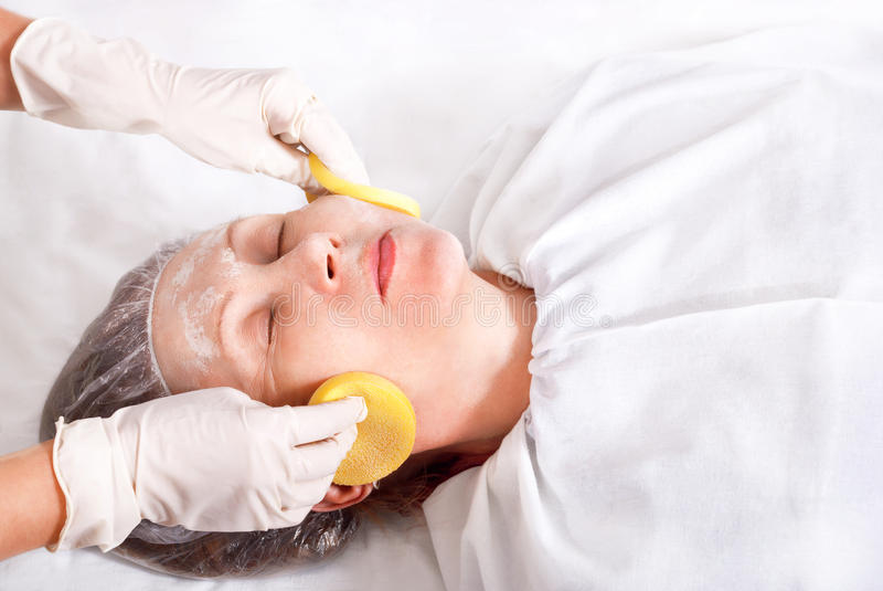 Facial cleansing stock images