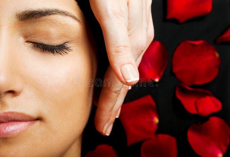 Facial energy massage royalty free stock photos