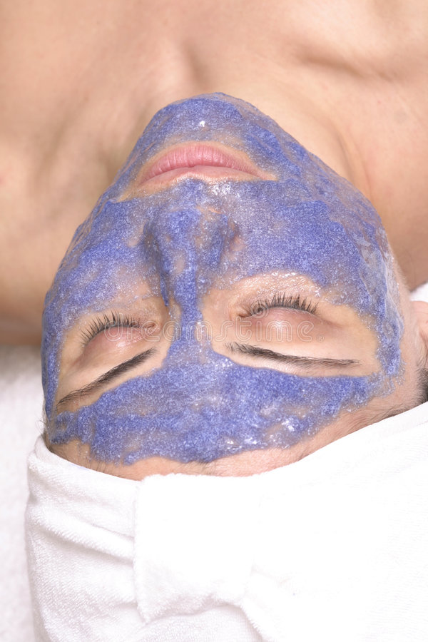 Facial exfoliation. Beauty facial exfoliation stock image