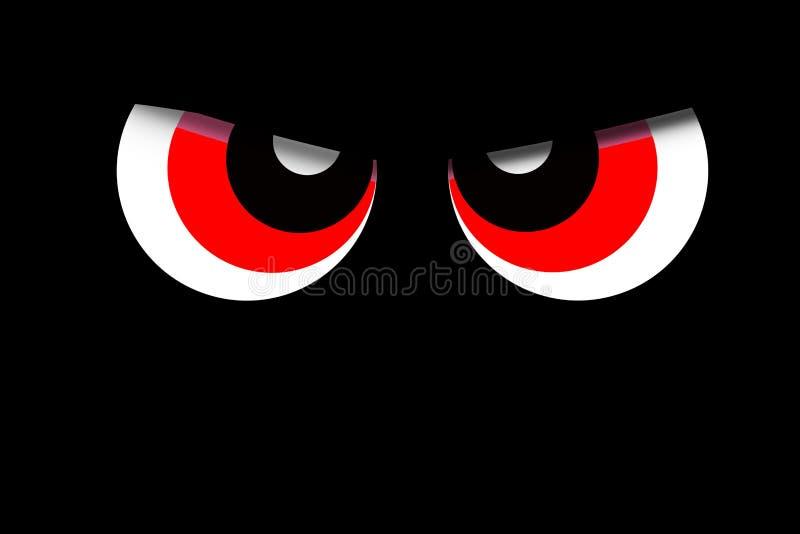 Facial expression on black background . stock illustration