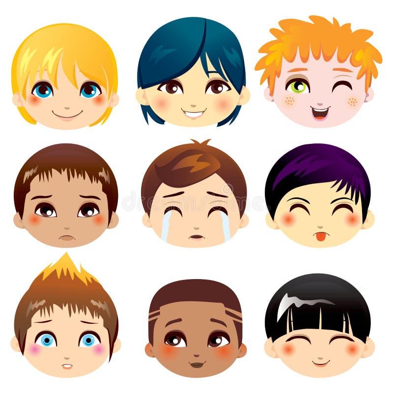 Facial Expression Collection vector illustration