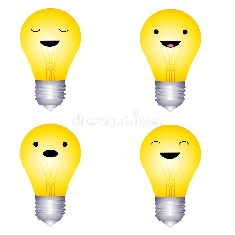 Download Facial Expression Lightbulbs Stock Illustration - Illustration: 10795299