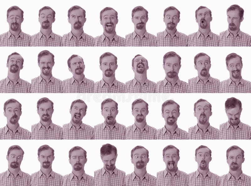 Facial expressions royalty free stock photo