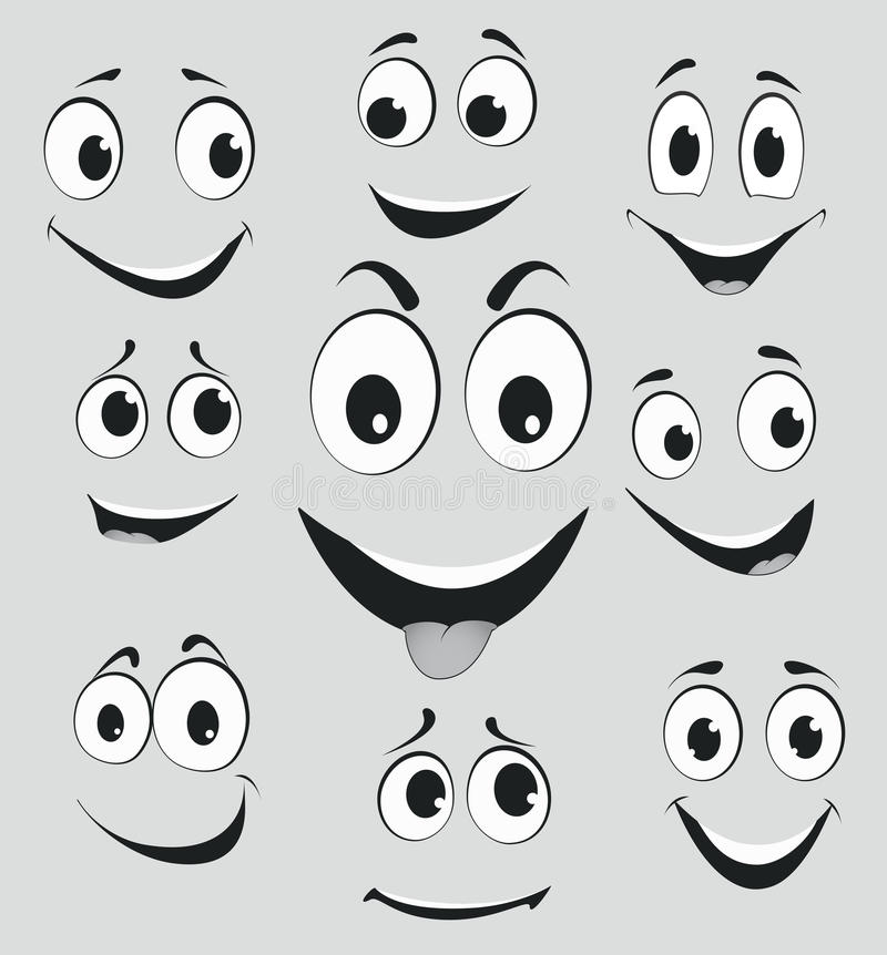 Free Facial Expressions, Cartoon Face Emotions Royalty Free Stock Photography - 39714267