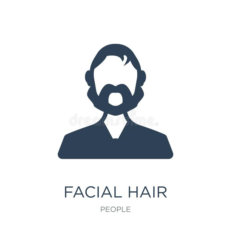 Facial hair icon in trendy design style. facial hair icon isolated on white background. facial hair vector icon simple and modern. Flat symbol for web site stock illustration
