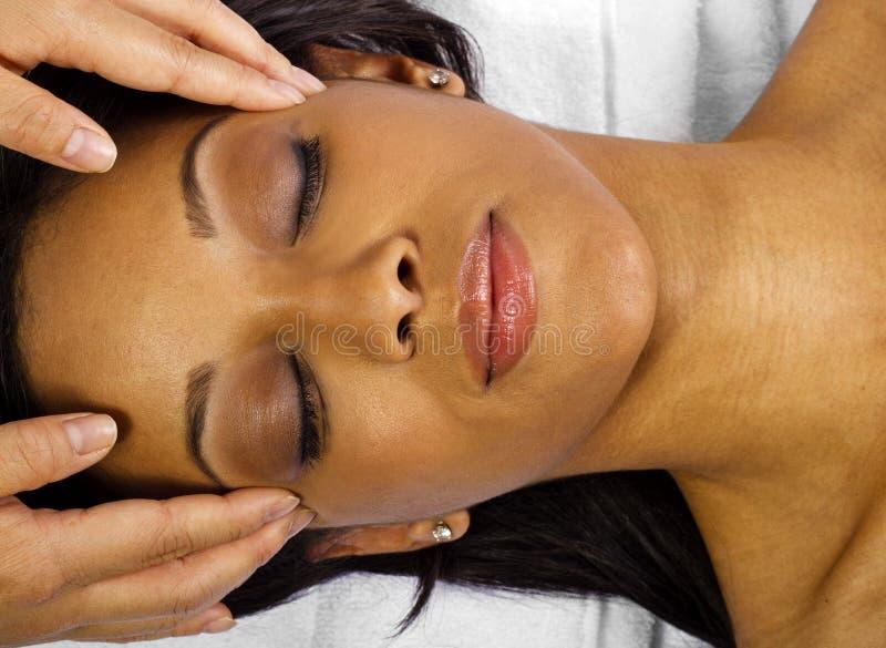 Facial / Head Massage royalty free stock photo