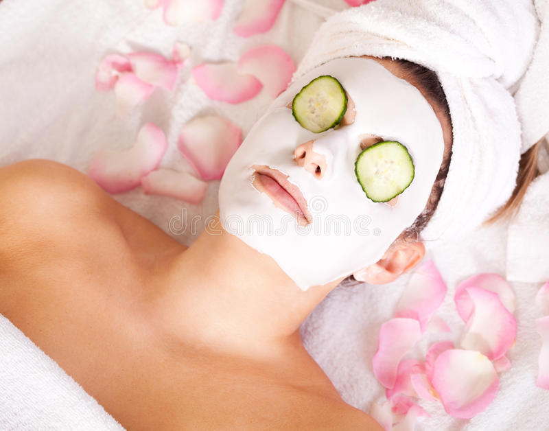 Facial mask stock images