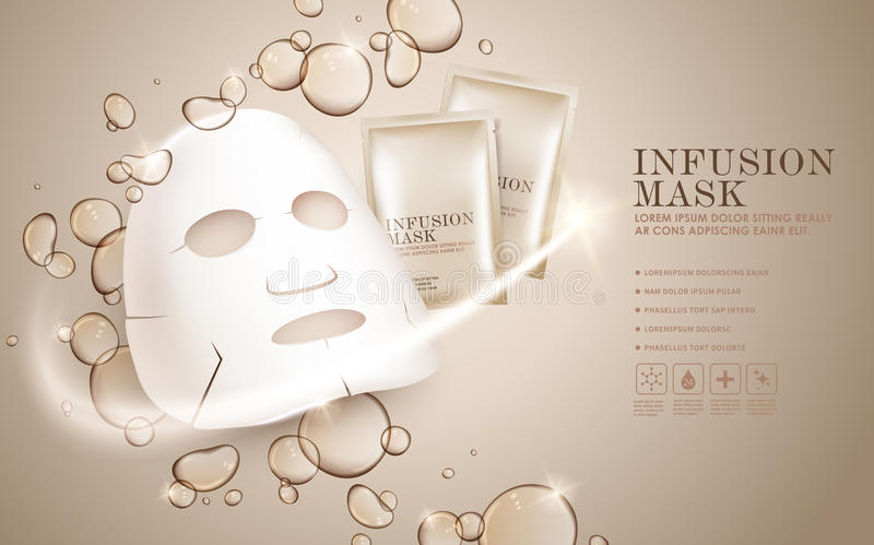 Facial mask ads template stock illustration