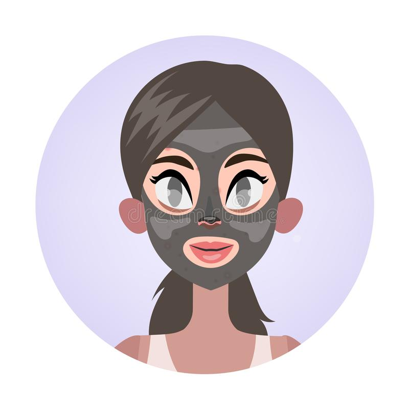 Facial mask for a clean healthy skin stock illustration