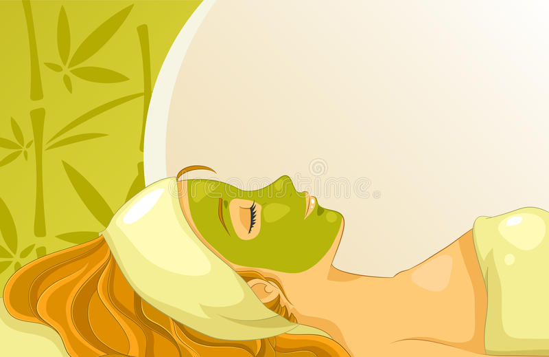 Facial mask royalty free illustration