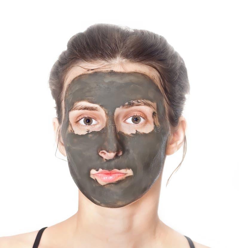 facial maskowi kobiety potomstwa zdjęcia royalty free