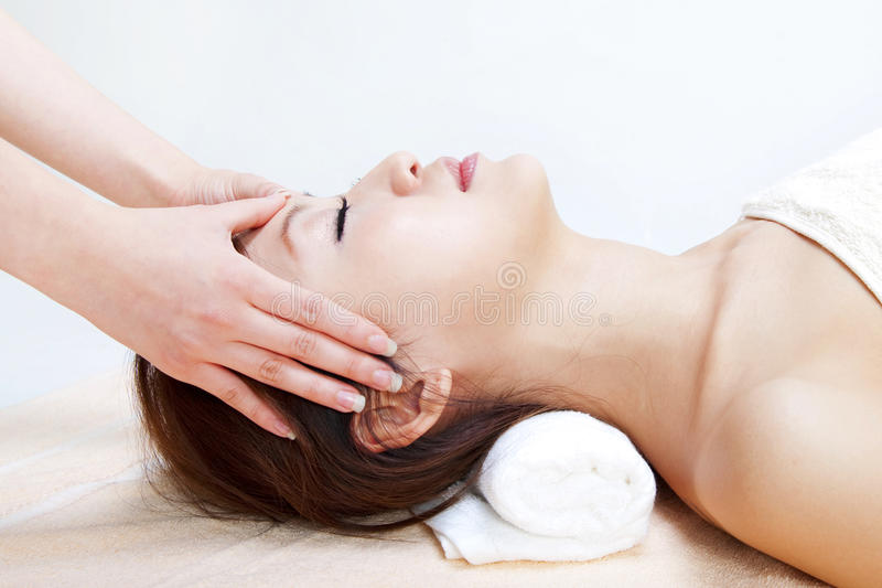 Download Facial massage stock photo. Image of adult, asian, people - 18324358